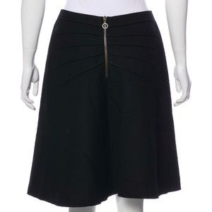 Albino Wool Knee- Length Skirt